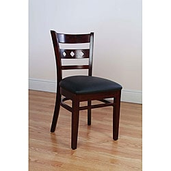 Diamond Back Dark Mahogany Side Chairs (Set of 2)