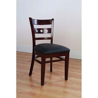 Diamond Back Dark Mahogany Side Chairs (Set of 2)