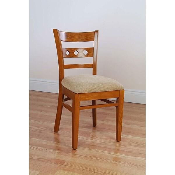 Diamond Back Cherry Side Chairs (Set of 2)