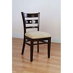 Diamond Back Walnut Side Chairs (Set of 2)