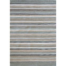 Hand-tufted Multicolor Abstract Rug (7'10 x 11')