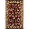 Hand-tufted 'Mandara' Red Wool Rug (9' x 13')