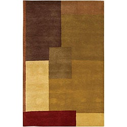 Hand-Tufted Mandara Multicolor Indoor Wool Rug (9' x 13')