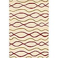 "Contemporary Hand-Tufted 'Mandara' Ivory Wool Rug (7'9"" x 10'6"")"