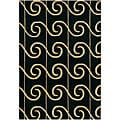Hand-tufted 'Mandara' Black-and-Gold Contemporary Wool Rug