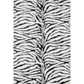 Jungle Zebra Print Rug (2' x 3')