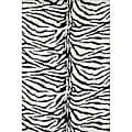 Jungle Zebra Print Rug (5' x 7'6)