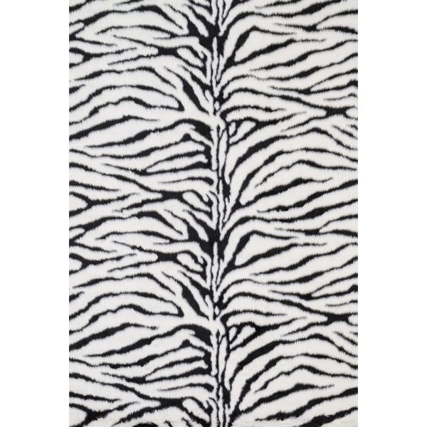 Jungle Zebra Print Rug (5' x 7'6)