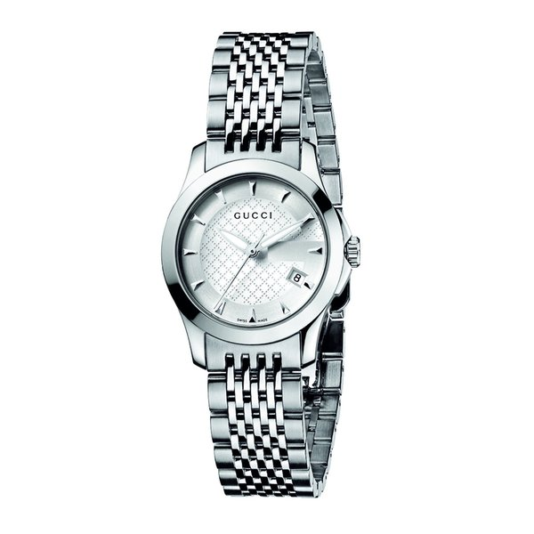Gucci Women's YA126501 'Classic G Timeless' Stainless Steel Watch