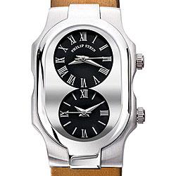 Philip Stein Women's 1-G-CB-IBZ 'Signature' Bronze Silk Leather Strap Watch