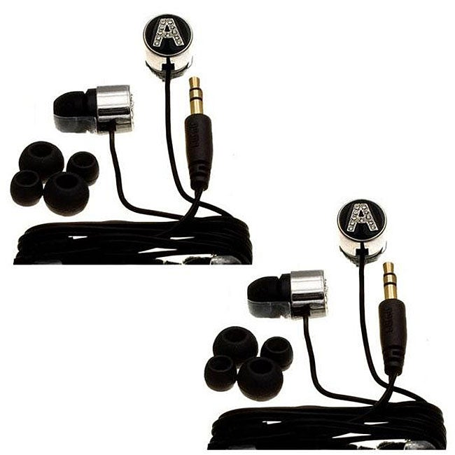 Nemo Digital Black Crystal 'A' Earbud Headphones (Case of 2)