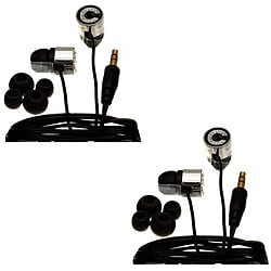 Nemo Digital Black Crystal 'C' Earbud Headphones (Case of 2)