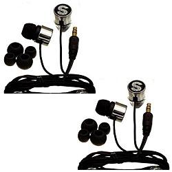 Nemo Digital Black Crystal 'S' Earbud Headphones (Case of 2)
