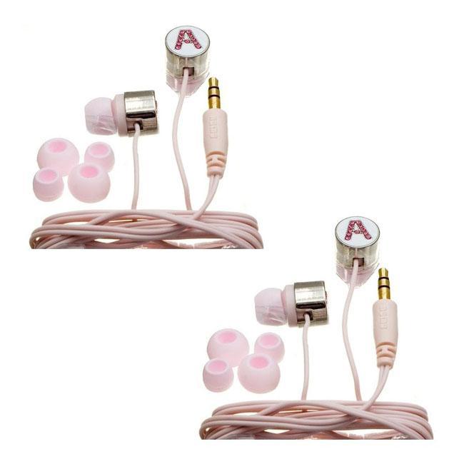 Nemo Digital Pink Crystal 'A' Earbud Headphones (Case of 2)