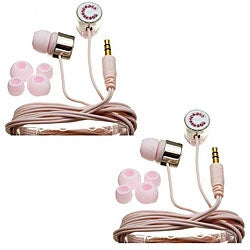 Nemo Digital Pink Crystal 'C' Earbud Headphones (Case of 2)