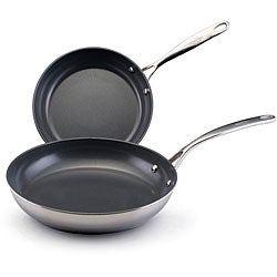 EarthPan Stainless Steel Twin Pack Skillets
