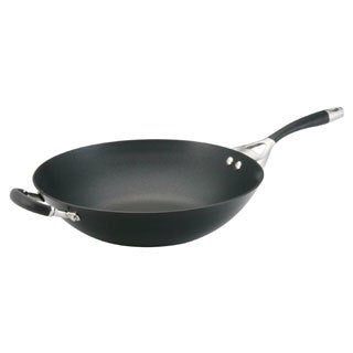 Circulon Elite Hard Anodized Nonstick 14-inch Open Stir Fry, Charcoal