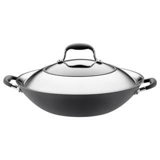 Anolon Advanced 14 Inch Covered Wok Stir Fry Pan