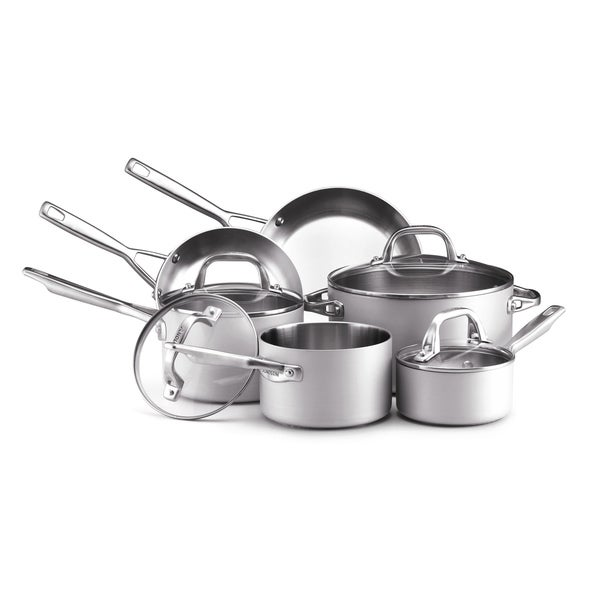 Anolon Chef Clad Stainless Steel 10-piece Cookware Set