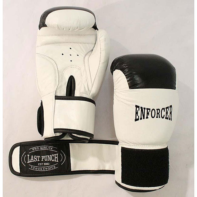 16-oz White Boxing Gloves