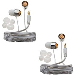 Nemo Digital Smoke/ White Crystal Stud Earbud Headphones (Case of 2)