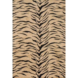 Jungle Faux Fur Tiger Print Animal Rug (2' x 3')