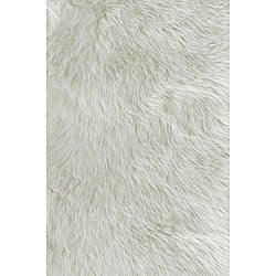 White Faux Sheep Skin Animal Rug (2' x 3')