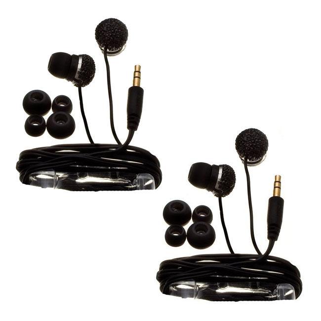 Nemo Digital Black Crystal Pave Ball Earbud Headphones (Case of 2)
