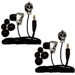 Nemo Digital Silver/ Black Grim Reaper Earbud Headphones (Case of 2)