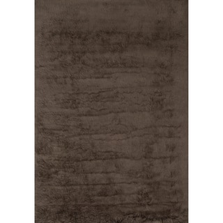 Jungle Sheep Skin Brown Rug (5' x 7'6)