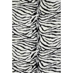 Jungle Zebra Print Rug (3' x 5')