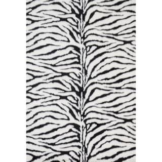 Jungle Zebra Print Rug (3' x 5')