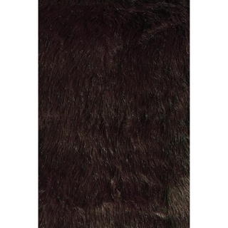 Jungle Sheep Skin Brown Rug (3' x 5')