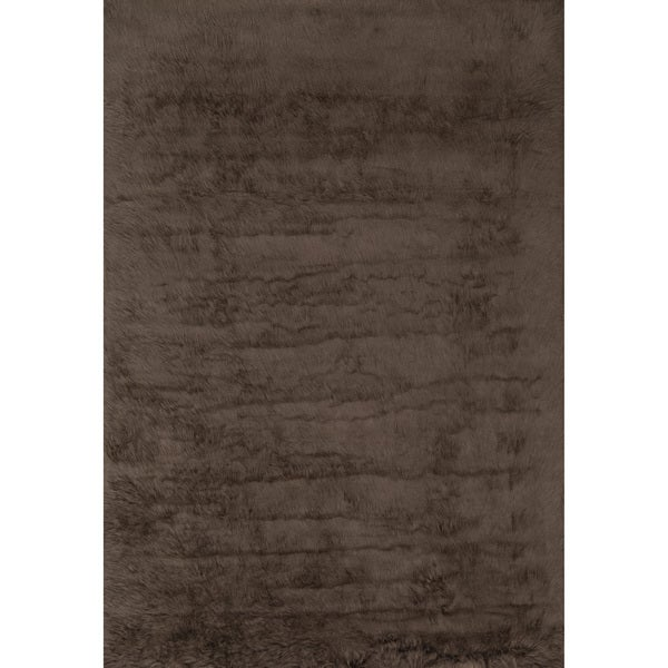 Jungle Sheep Skin Brown Rug (3' x 5')