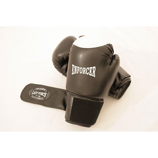 16-oz Black Boxing Gloves