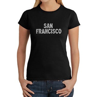 Los Angeles Pop Art Women's San Francisco Crewneck Tee