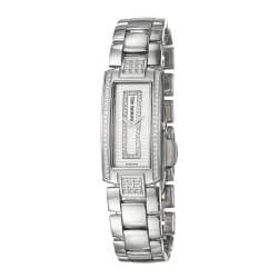 Silvertone Raymond Weil Women's 'Shine' Stainless Steel Diamond Watch