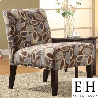 ETHAN HOME Decor Leaves Print Upholstered Lounge Chair