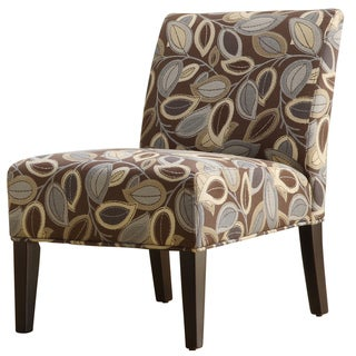 Decor Leaves Print Upholstered Lounge Chair