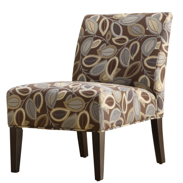 TRIBECCA HOME Decor Leaves Print Upholstered Lounge Chair