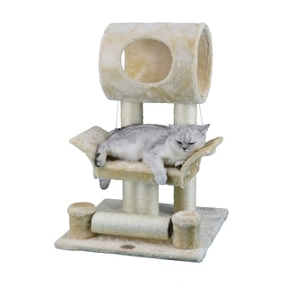 "28-inch Faux Fur and Sisal Cat Tree - 28""h"