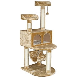 Go Pet Club Cat Tree Condo House 54-inch Scratcher