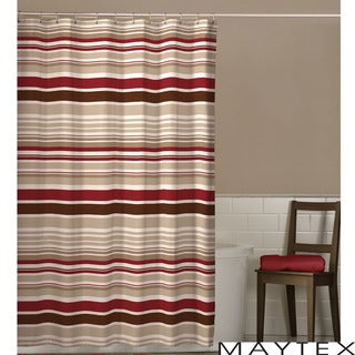 Maytex Meridian Stripe Shower Curtain | Overstock.com Shopping