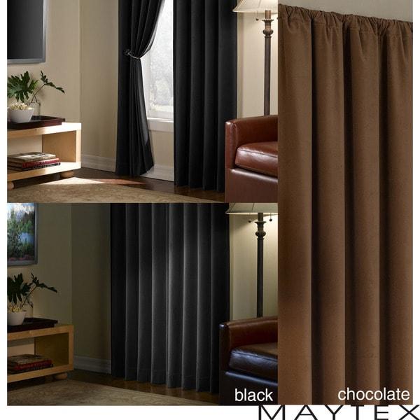 Faux Suede Blackout 84-inch Window Panel