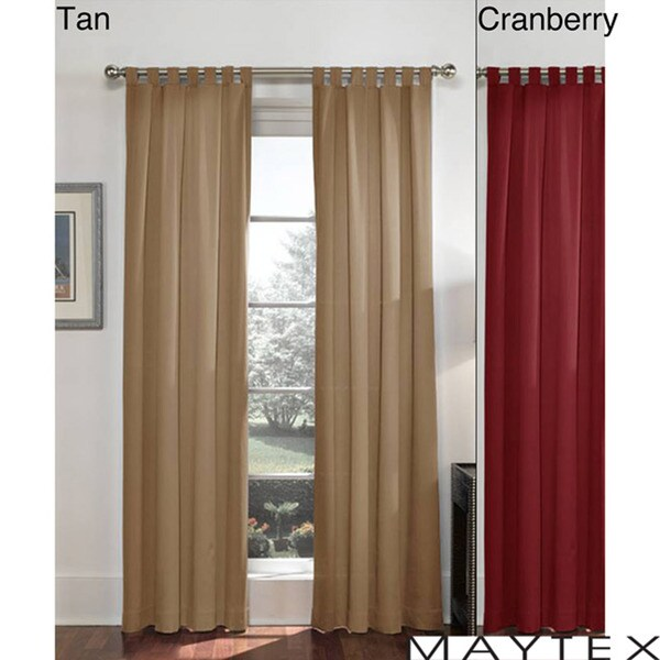 Twill Tab Top 84-inch Window Panel