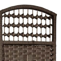 Woven Wood/ Fiber 5.5-foot Tall Room Divider (China)