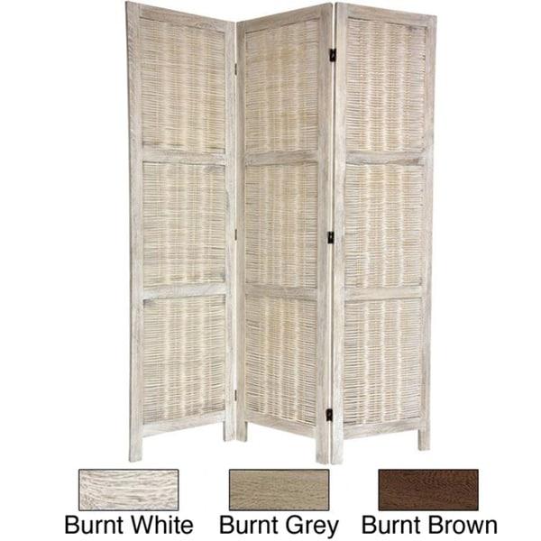 Woven Bamboo Matchstick 5.5-foot Room Divider (China)