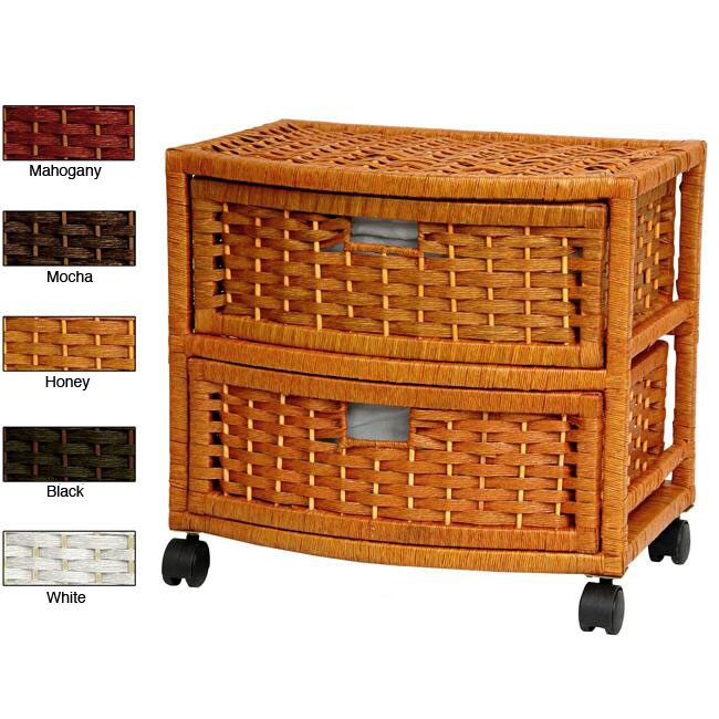 Natural Fiber 16-inch Chest of Drawers (China)