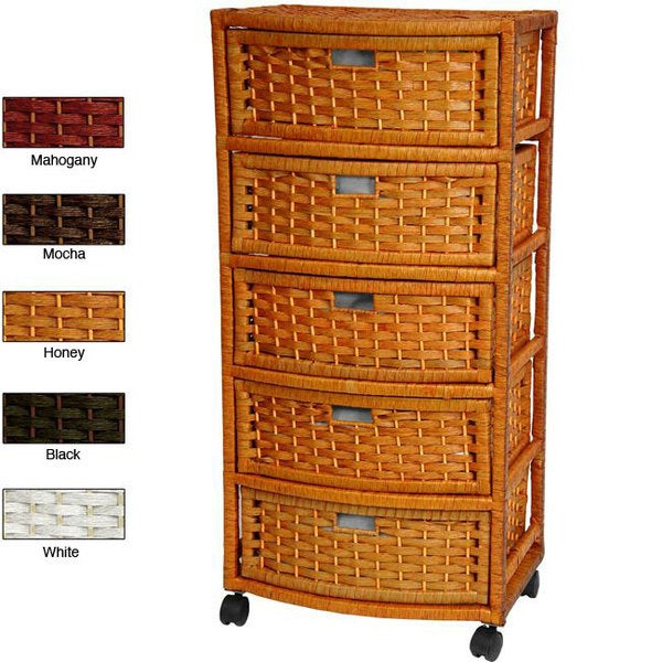Natural Fiber 37-inch Chest of Drawers (China)