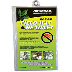 Pop-up Thin/ Lightweight Field Hat and Headnet with Storage Bag